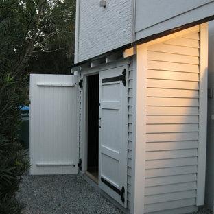 Exempel på en klassisk garage och förråd