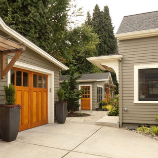 Large arts and crafts detached shed photo in Portland