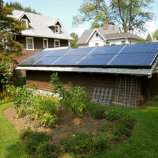 Traditional Garage And Shed by Sunrise Solar Solutions, LLC