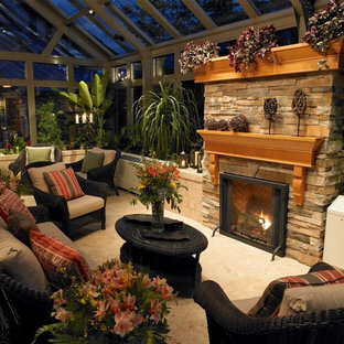 Photo of a large contemporary detached greenhouse in Vancouver.