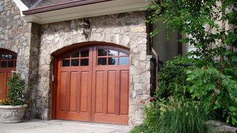 Spanish Cedar woodern Carriage style garage door