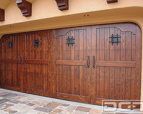 Inspiration for a mediterranean shed remodel in Orange County : spanish doors - Pezcame.Com