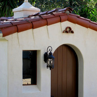 Small mediterranean detached garden shed in Santa Barbara.