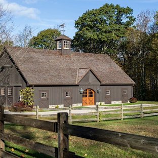 This is an example of an expansive country detached barn in New York.
