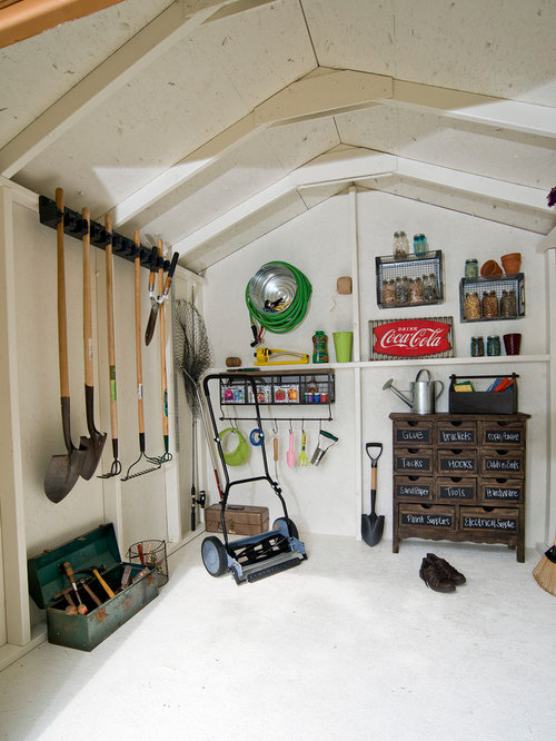 Shed interior houzz for Shed interior ideas