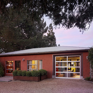 This is an example of a large contemporary shed and granny flat in San Francisco.