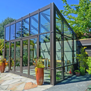 Contemporary greenhouse in Seattle.