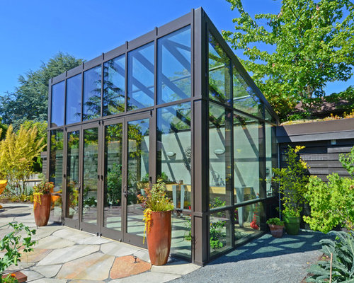 Greenhouse Design Ideas 1000 images about greenhouse on pinterest greenhouses small greenhouse and green houses Inspiration For A Contemporary Gardening Shed Remodel In Seattle