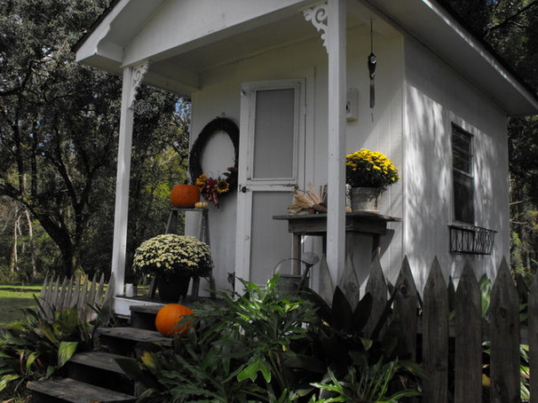 Traditional Garage And Shed by Susie Harris