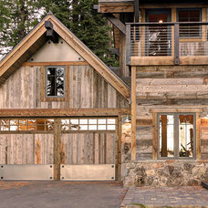 Rustic Garage And Shed by Structerra, Inc.