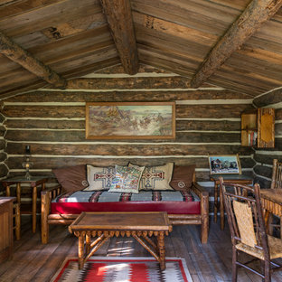 Inspiration for a rustic guesthouse remodel in Other