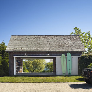 Photo of a beach style shed and granny flat in New York.