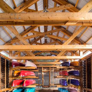 Inspiration för stora rustika fristående båthus