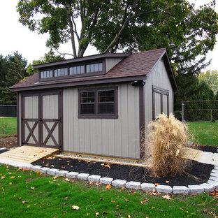 Idées déco pour une maison d'amis séparée craftsman de taille moyenne.