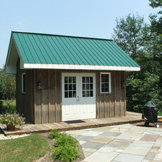 Traditional Garage And Shed by HP Builders, Inc