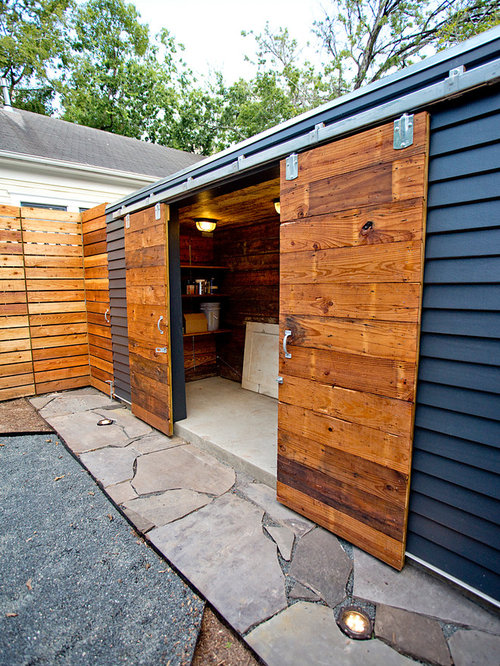 abri de jardin contemporain avec un abri de jardin photos et id es d co d 39 abris de jardin. Black Bedroom Furniture Sets. Home Design Ideas
