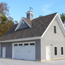 Farmhouse Garage And Shed by The H L Turner Group Inc