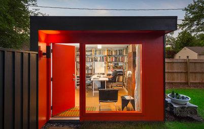 今週の小屋:庭に小屋を立てて建築事務所のホームオフィスに