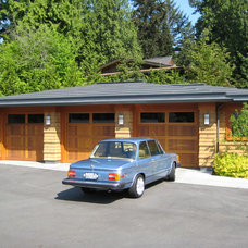 Traditional Garage And Shed by David Olson Architect