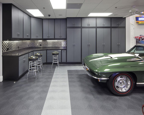 White Kitchen Cabinets Garage and Shed Design Ideas, Pictures, Remodel ...