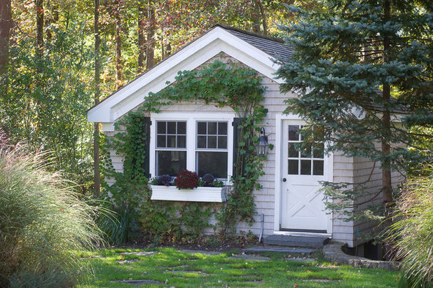 Traditional Garden Shed and Building Traditional Garage And Shed