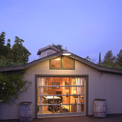 traditional garage and shed by Taylor Lombardo Architects