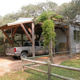 Industrial garden shed and building in Austin.