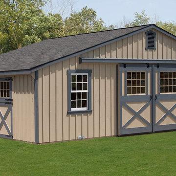 Trailside Single Story Center Aisle Horse Barn