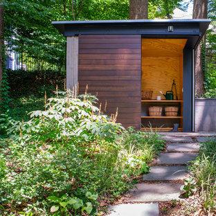 Immagine di garage e rimesse minimalisti