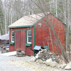 Traditional Garage And Shed by Robin Amorello, CKD CAPS - Atmoscaper Design