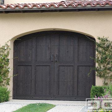 Tuscan Garage Door 11   Dark Stained Tuscan Garage Doors in Real Wood Overlay!