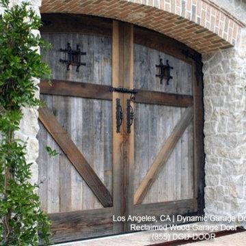 Tuscan Garage Door Designs in Reclaimed Barn Wood | ECO-Friendly European Style