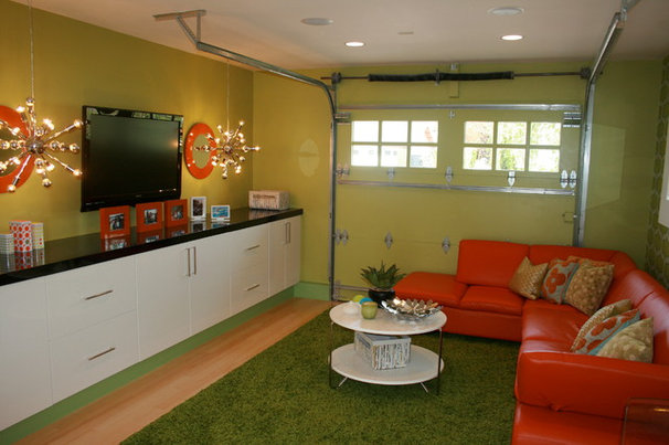 Eclectic Garage And Shed by Devon Design, Inc.