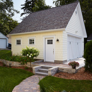 Photo of a mid-sized transitional detached shed and granny flat in Minneapolis.