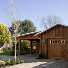 Traditional Garage And Shed by Robert Baumann, Architect