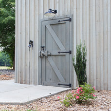 Traditional Garage And Shed by Sand Creek Post & Beam