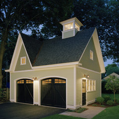 traditional garage and shed by LDArc