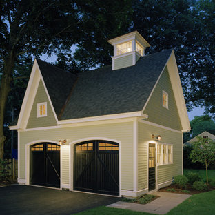 This is an example of a traditional garden shed and building in Boston.