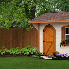 Traditional Garage And Shed by Weaver Barns