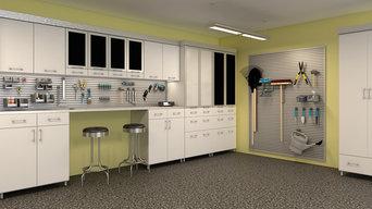 White and Black Garage