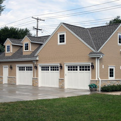 traditional garage and shed by Bartelt. The Remodeling Resource