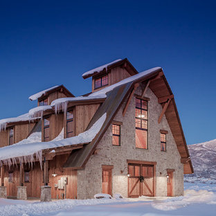 Mountain style barn photo in Denver