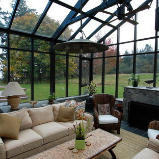 Inspiration for a huge contemporary greenhouse remodel in Vancouver