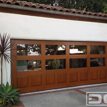 Wood & Glass Eclectic Garage Door in Los Angeles, CA | A Garage Conversion Idea