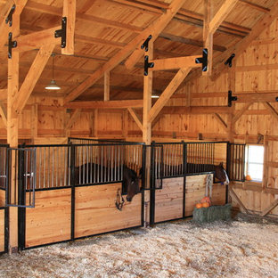 Wood Post & Beam Horse Barn in Nebraska
