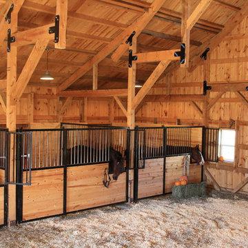 Wood Post & Beam Horse Barn in Nebraska