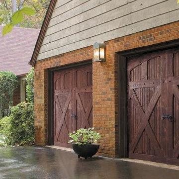 Wooden carriage style garage door