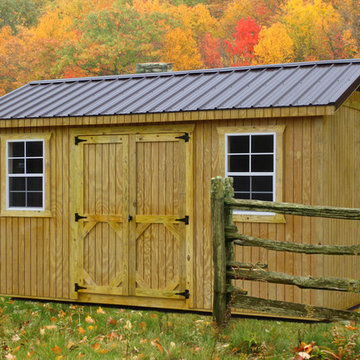 Wooden Garden Shed in a Rustic Setting