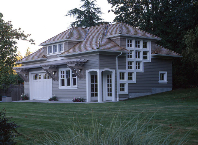 Traditional Garage And Shed by Goforth Gill Architects