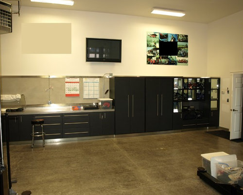 Stainless Steel Countertop Garage and Shed Design Ideas, Pictures ...